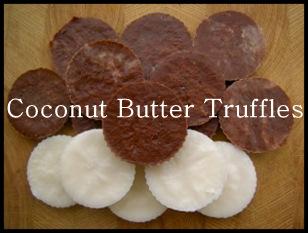 coconut butter truffles